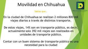 Movilidad en Chihuahua