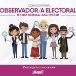 Abierta convocatoria para observadores electorales 2017-2018