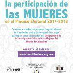 Invitan a participar en Observatorio de Participación Política de las Mujeres