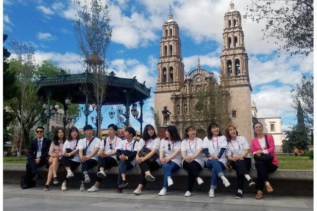 Delegacion de jóvenes coreanos