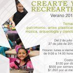 Crearte y Recrearte, taller para infantes este verano