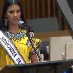 Migración indígena aumenta daños ambientales: Miss Panamá al disertar ante ONU