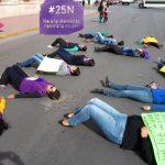 Alianza Feminista #25N pide alto a la violencia contra las mujeres frente a Palacio de Gobierno