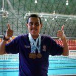 Tener una discapacidad no es una barrera, es un reto: David Martínez, medallista paralímpico en natación