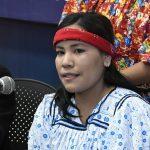 Irma Sandoval, mujer ralámuli, una de las nuevas choferesas al volante de la Ruta Troncal